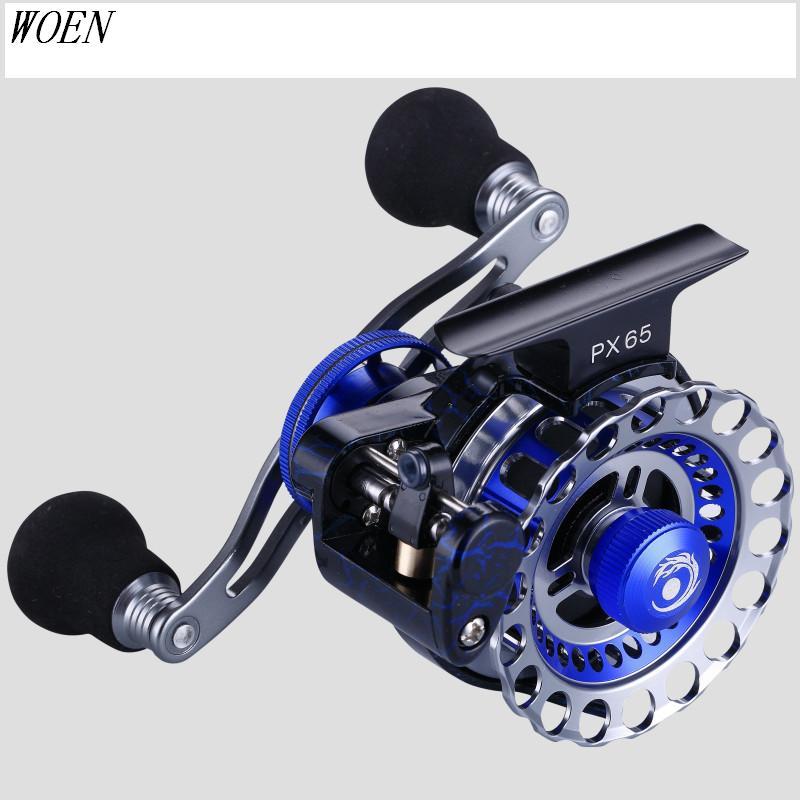 Купить с кэшбэком WOEN HR65 raft Reels All aluminum alloy Wire cup Micro-lead wheel 8BB+1RB high speed SUS bearing Fishing reel Gear ratio 3.6:1