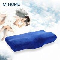 Velvet Butterfly Style Memory Pillow Bedding set Memory Foam Anti Static Neck Nursing Pillow christmas decorations for home