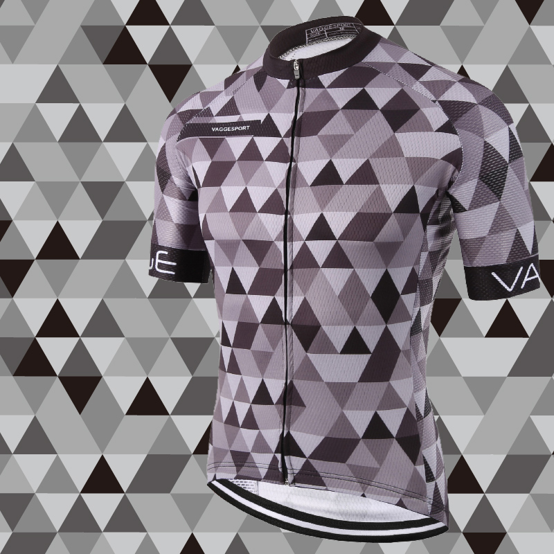 Kemaloce Classic Pro Tour Stramme mænd Cyklingstrik Breathable Dye Sublimated Racing Cykling Shirts Reflekterende Grå Pro Bike Wear