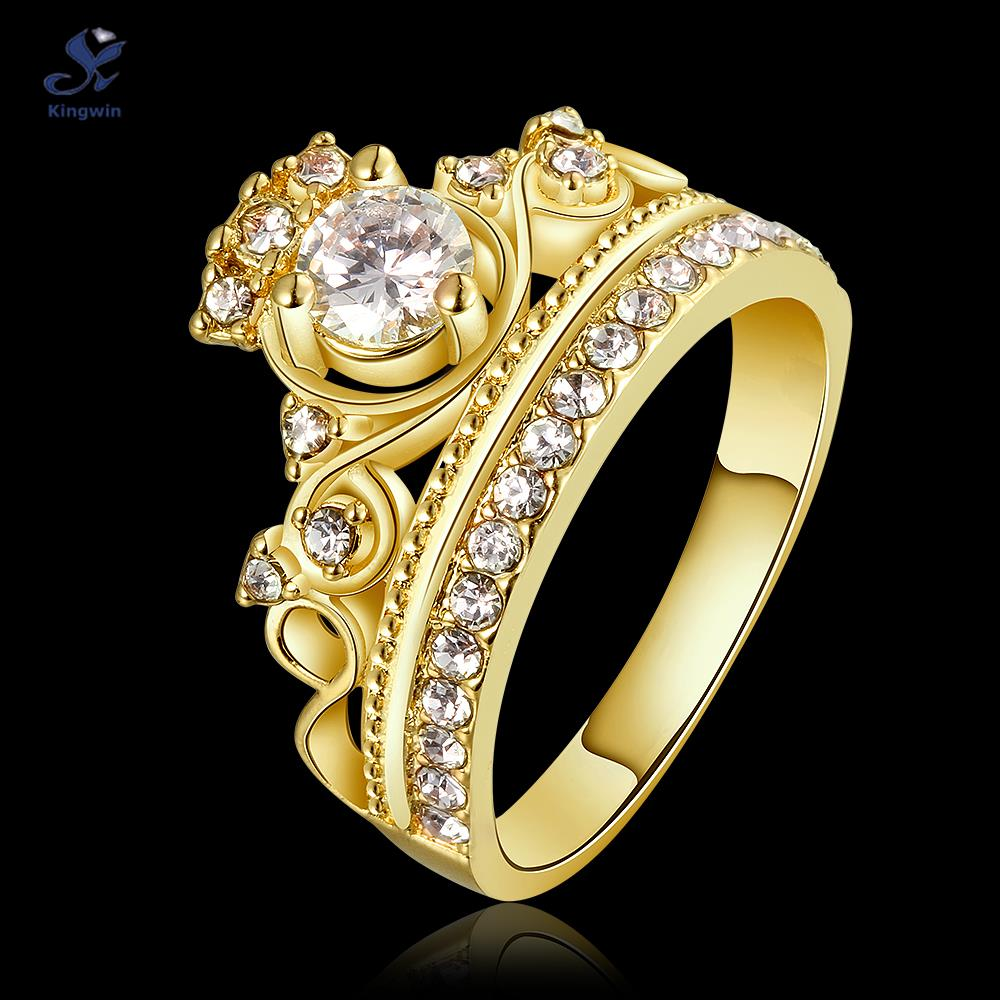 aliexpress : buy kingwin new design crown ring for women cz
