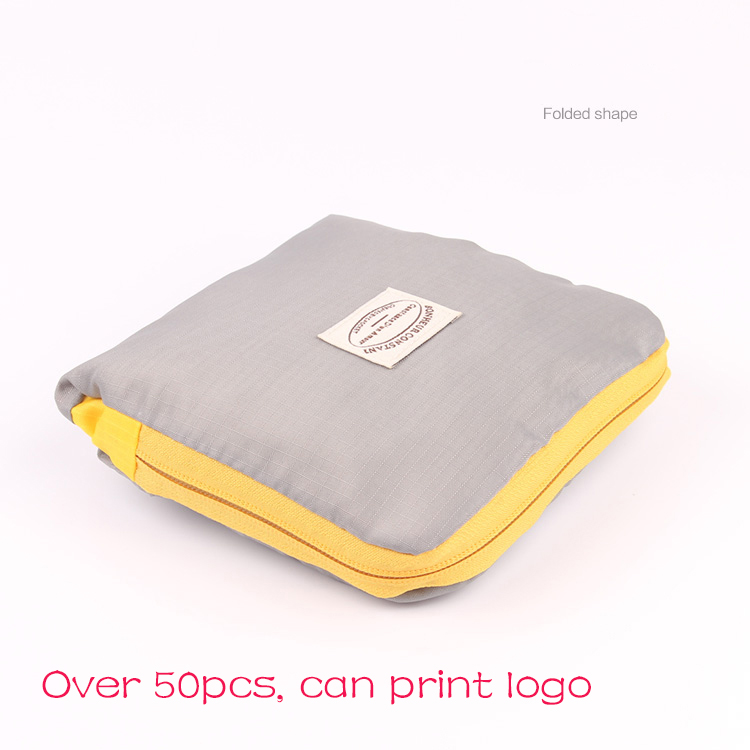 Personalized logo printed Reusable produce bags Folding Shopping Bag Recycle Grocery Large Capacity Handle Bag custom small gift