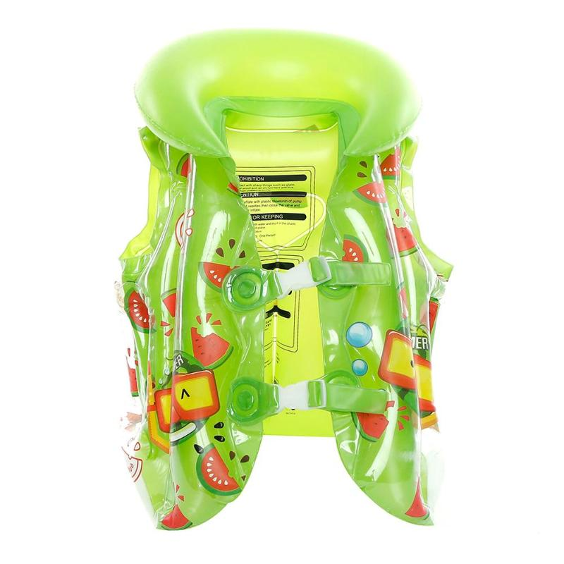 Inflatable Kids Baby Life Vests Summer Boys Girls Pool Accessories Ring Child Swimming Safety Floating Vest Children Swimwear