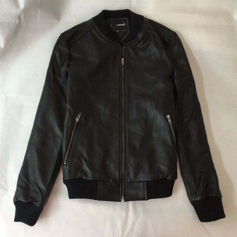 Cow Leather Jacket For Man Women Fashion Short Style Slim Genuine Leather Coats Motorcycle Rider Cowhide Real Cow Leather Jacket