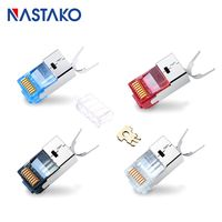 RJ45 Connector Cat7 conector rj45 Plug Colorful Shielded FTP RJ 45 Modular Connectors Cat 7 Network Ethernet Cable for cats