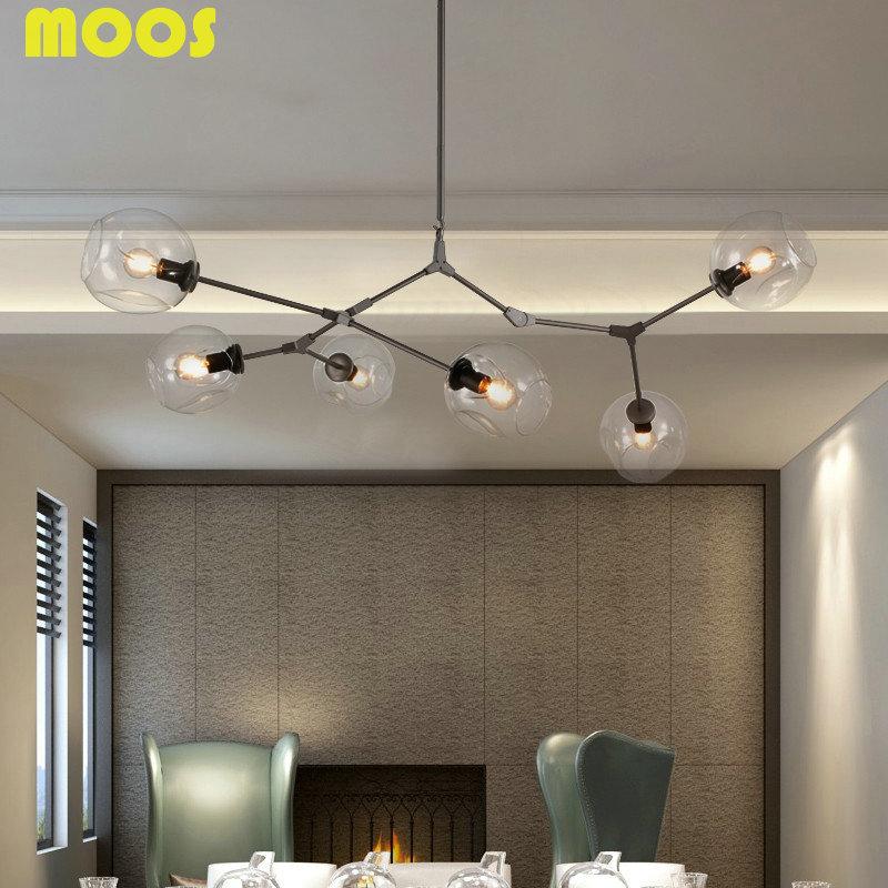 Modern Globe Bubble Chandelier Branching Led Ceiling Pedante ...