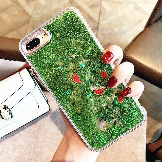 sports shoes 16ae8 470d6 US $4.31 |Aliexpress.com : Buy For iPhone 8 Plus Quicksand Case Fashion  Dynamic Liquid Glitter Case Cartoon Watermelon Shea Fruit Cover For iPhone  6 ...