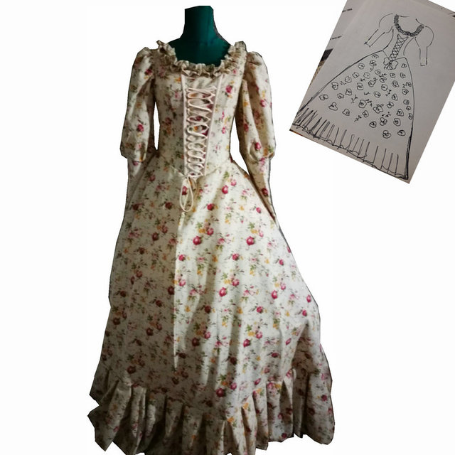 D 188 Victorian Gothic/Civil War Southern Belle loose Ball Gown ...