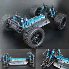 Chassis upgrade versie 1/10 RC 4WD Model Car Buggy Monster Bigfoot Truck Lege Frame Borstelloze versie HSP 94111(China)