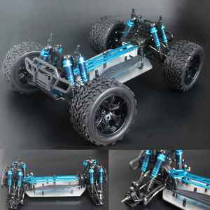 Chassis upgrade version 1/10 RC 4WD Model Car Buggy Monster Bigfoot Truck Empty Frame Brushless version HSP 94111(China)