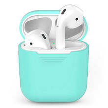 Earphone Case for Apple AirPods Silicone Cover Wireless Bluetooth Headphone Air Pods Pouch Protective For AirPod Accessories(China)