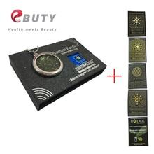 EBUTY био подвеска стекло 6000cc энергия здоровье керлинг ювелирные изделия+ анти-излучения наклейки щит для мобильного телефона бесплатно