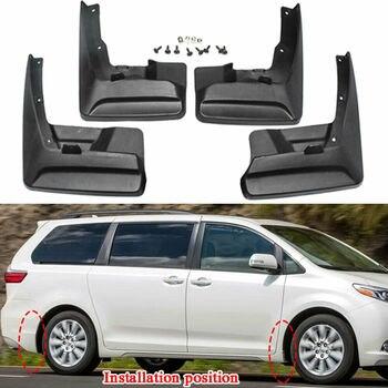 4 piezas de coche delantero trasero guardabarros para Toyota Sienna 2011-2017