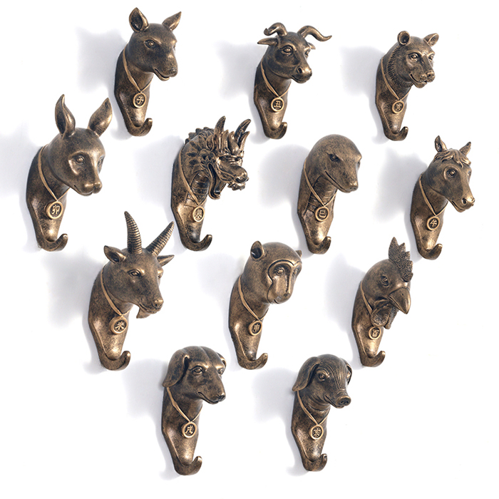 Buy unique chinese zodiac resin robe hook for Cool wall hook ideas