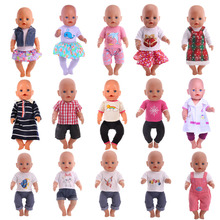Doll Clothes 15 Styles T-Shirt+Skirt/Pants Handmade Fit 18 I