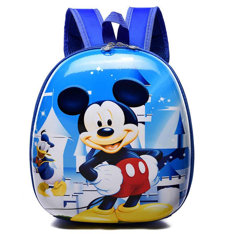 Disney Princess Tas Anak untuk Sekolah Shell Ransel Anak TK Kartun 2-5 Tahun Anak Laki-laki dan Perempuan Tas Ransel Frozen elsa