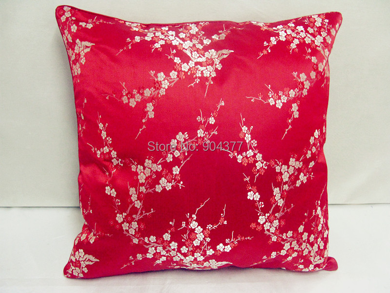 Ручной работы с цветочным принтом китайский стул подушка для дивана в этническом стиле Подушка под поясницу декоративные наволочки шелк атласная наволочка 45x45 см