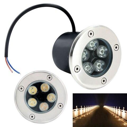 10 pcs dhl subterraneo levou ao ar livre luz da lampada de 1 w 3