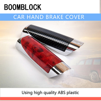 BOOMBLOCK Car Covers Hand Brake Carbon Fiber Styling For Mercedes W204 W210 AMG Benz Bmw E36 E90 E60 Fiat 500 Volvo S80 image