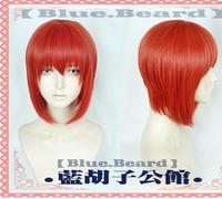 2018 the Ancient Magus' Bride Chise Hatori Wig Short Anime Cosplay Facial Hair Orange Hair