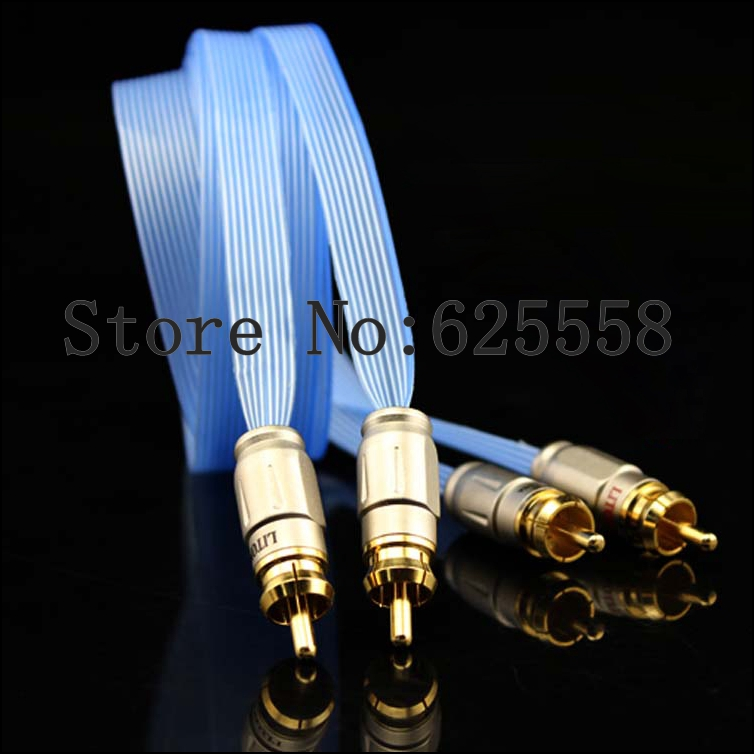 Hifi audio audio Interconnect cable with kingsnake RCA plugs 1pair 1M retro flowering blossom pattern voile gossamer scarf