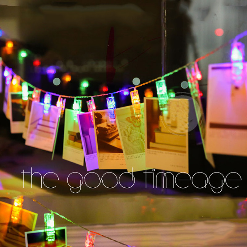 1PC 4m Photo Clips String Lights 40 Leds Hanging Photos Clip Lighting Lamp Wedding Party Home Decoration ALI88