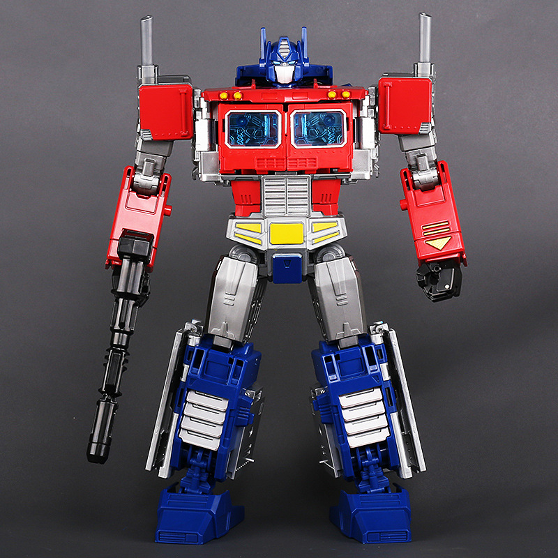 In Stock 30Cm Alloy Version Optimus Prime Model Anime Figures Autobots Deformation Cars Robot Action Toy Children New Years Gift