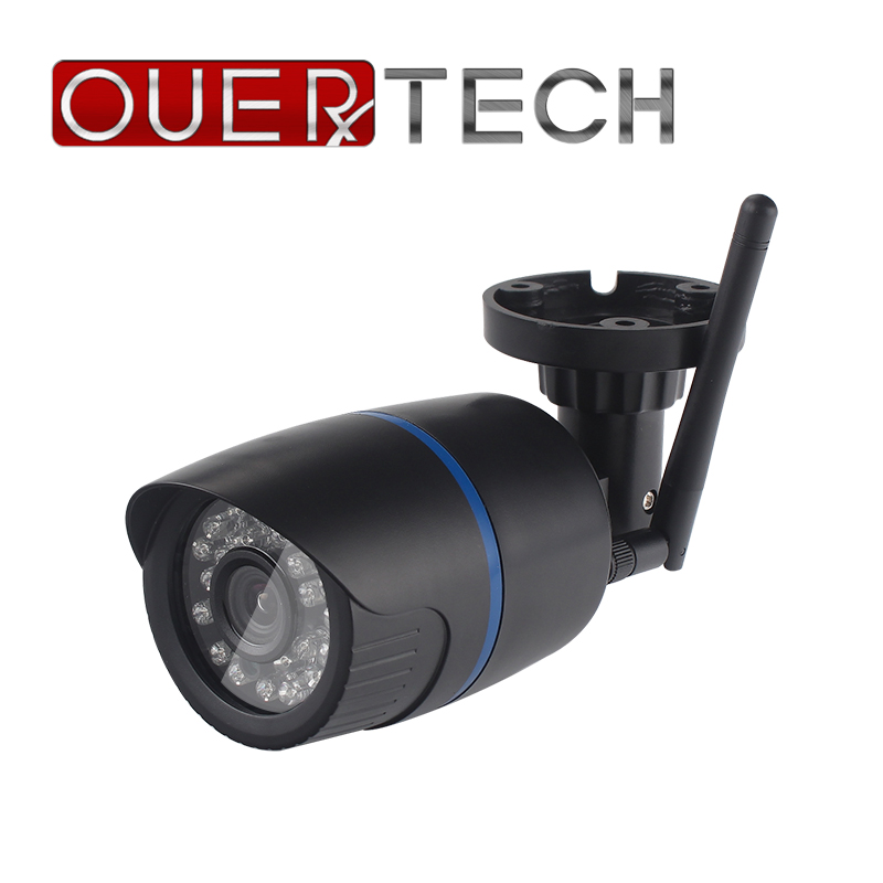 OUERTECH Wifi IP Camera 720P 960P 1080P WIFI Wired ONVIF P2P CCTV Bullet Outdoor Camera With SD Card Slot Max 128G APP ICSEE-in Surveillance Cameras from Security & Protection