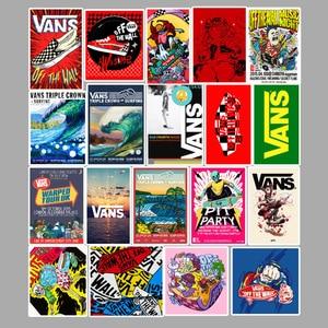 Image 4 - 100 pçs/set dos desenhos animados bonito doodle etiqueta marca skate mala portátil guitarra carro pvc papel de parede à prova dwaterproof água
