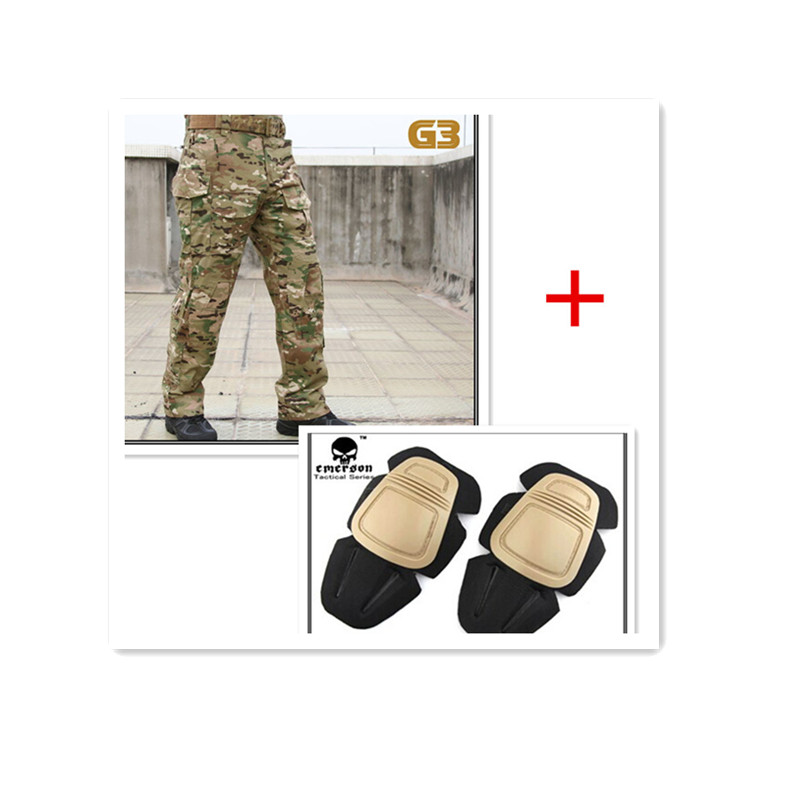 Emerson Tactical Combat Pants G3 seragam BDU Army Military Pads Multicam EM8527
