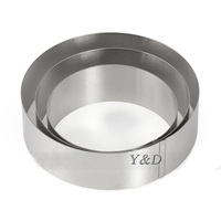 3D DIY 5 6 7 Inches Round Circle Shape Stainless Steel Mousse Ring Cake Mold Circle