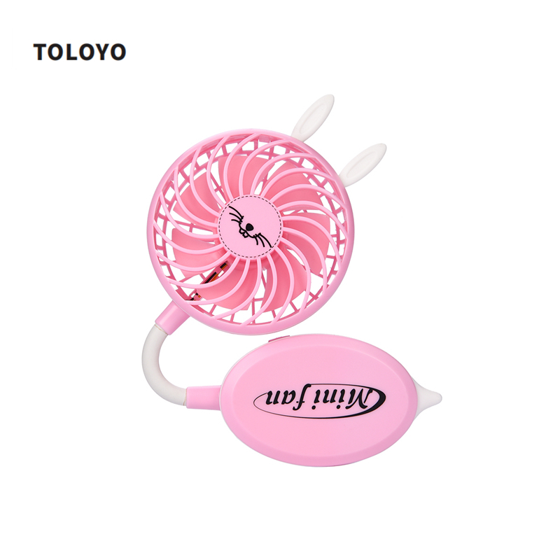 TOLOYO Cute Folded Fan USB Rechargeable Fan Adjustable Angle Mini Cooling Fan Desk Usb Air Conditioner Cooler For Office Student 2016 rechargeable fan usb portable desk mini fan for office usb electric air conditioner small fan angle adjustment 1200ma