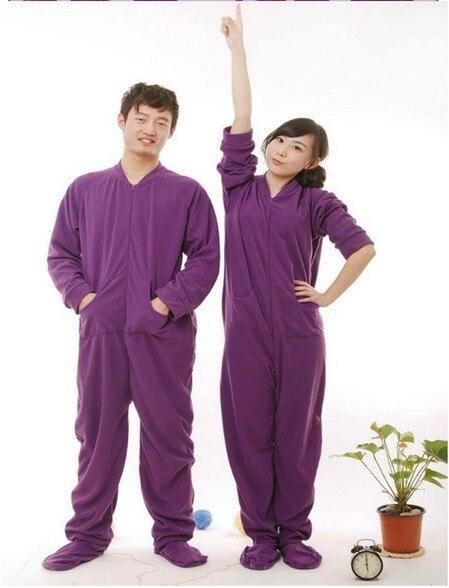 512d2a04ad73 Unisex Adult Purple style Onesie Pyjamas women men Footed Pajamas Sleepsuit  Fawn Sleepwear for party Halloween S M L XL G3