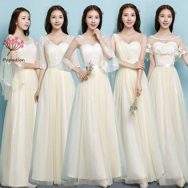 Popodion long bridesmaid dresses sister wedding party dress bridesmaids  dresses for women vestido de festa longo ROM80125-1 64f7b882b8e6
