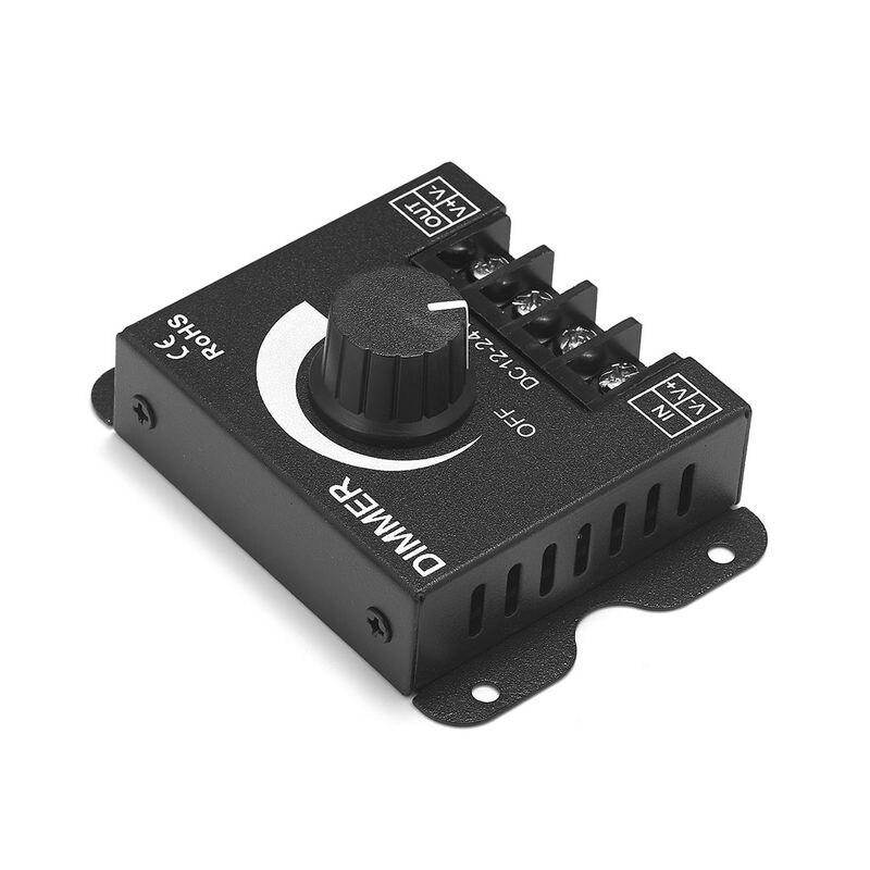 30pcs LED Dimmer Switch DC12V-24V 30A Brightness Adjustable Controller For 5050 2835 Single Color LED Strip Lights LED Lamp