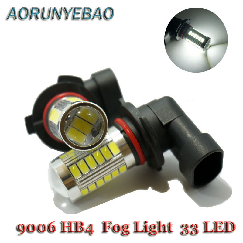 AORUNYEBAO 2X szuper fényes 9006 HB4 5630 33 SMD LED t Ködlámpa - Autó világítás - Fénykép 1