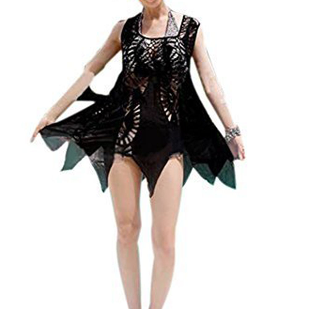 Super sell Sexy Womens Crochet Swim Suit Bathing Suits Bikini Swimwear Cover Up Beach Dress Black
