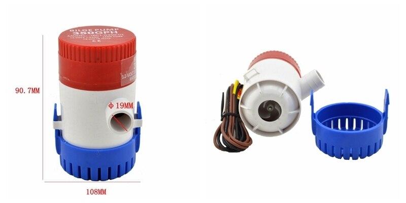 Kleine Bilgenpumpe DC 12 V 24 V Elektrische Wasserpumpe Für Aquario ...