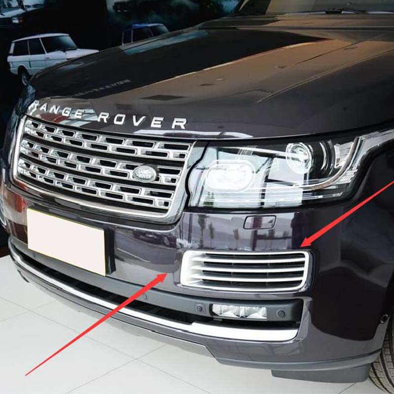 Black Front Air Vent Grille Cover for Land Rover Range Rover Vogue 2014 2015 2016 silver front air vent grille cover for land rover range rover vogue 2014 2015 2016