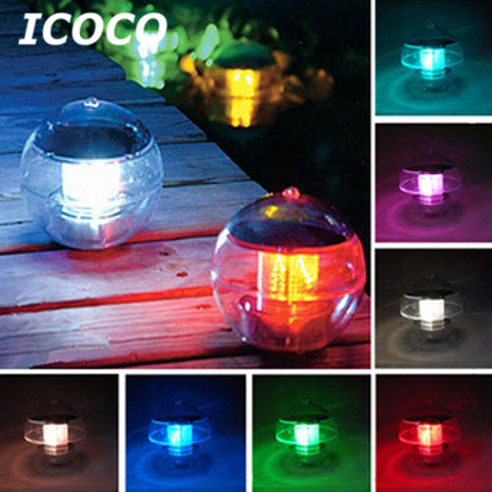 Swimming Pool Lights Floating Solar Waterproof ABS Plastic with Color Changing Pond Lights Waterproof with Multi Color LED for Pool,Pond,Tub or Party Decorations