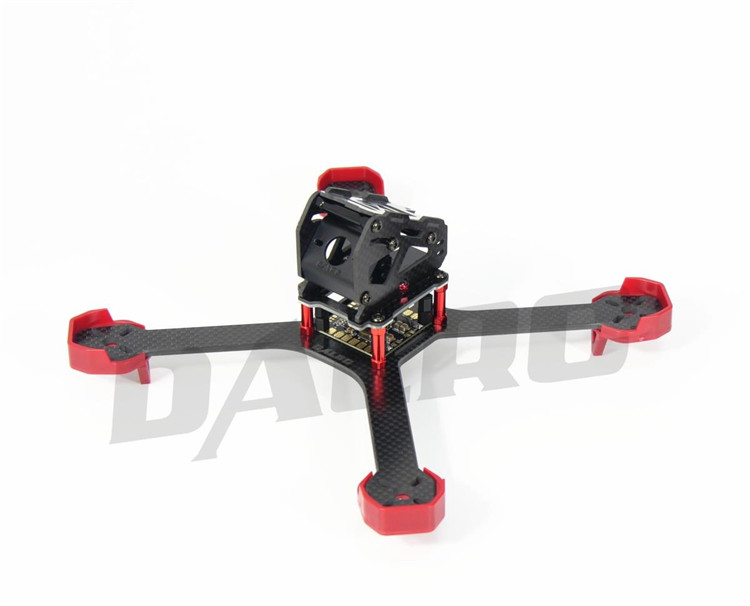 DIY FPV DALRC XR220 Carbon Fiber Drone Quadcopter Frame with 5V 12V 3A PDB / LED Board kingkong 210 carbon fiber mini fpv quadcopter 5v 12v bec pdb motor cover protection frame free give 10 pairs 5040 red propeller