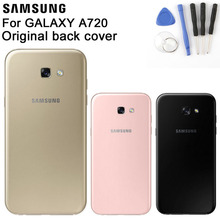 Samsung Glass Battery Rear Case For Samsung Galaxy A7 2017 Edition A720 SM-A720 Phone Battery Backshell Back Battery Cover Cases стоимость