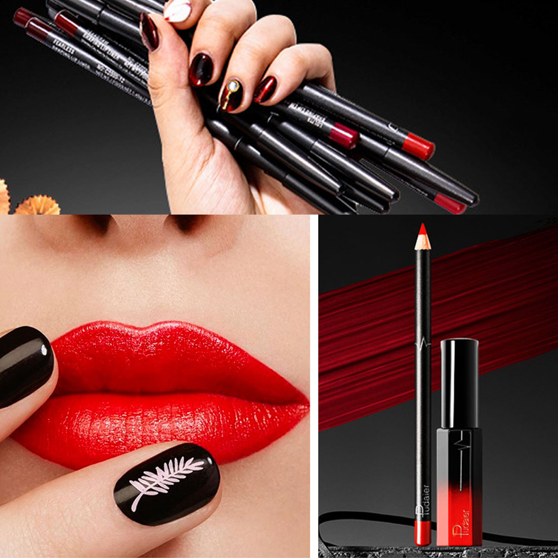 Waterproof Lasting <font><b>Lipstick</b></font> Liner <font><b>Lip</b></font> Color Combination <font><b>Matte</b></font> Liquid <font><b>Lip</b></font> <font><b>Gloss</b></font> <font><b>Cosmetic</b></font> <font><b>Lipstick</b></font> <font><b>Set</b></font> Nude <font><b>Lip</b></font> image