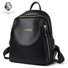 LAORENTOU Brand Women Backpack Large Capacity Lady Solid Bag School for Teenage Multifunctional