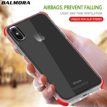 BALMORA Armor Transparent Phone Case For iPhone 6 6s 7 8 plus X Shockproof Protect Soft TPU Cases For Samsung Galaxy S8 S9 plus