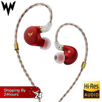 HiFi Bass Earphones A HE03 Hi Res Headsets Hybrid Armature 2Pin Connector 3.5mm In Ear Monitors HiFi Earbuds