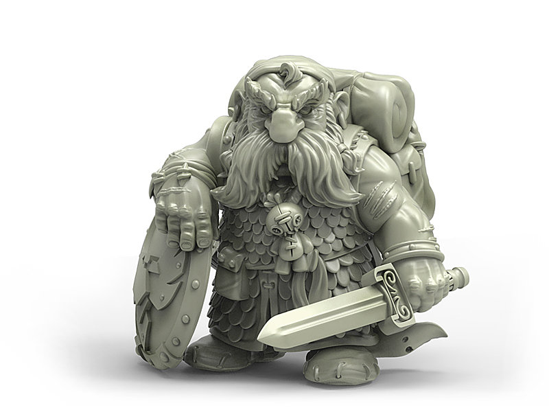 US $14 0 |[Loong Way Miniatures] Durgin Paint Forge Iron Crow Warrior 32mm  Resin Miniature-in Model Accessories from Toys & Hobbies on Aliexpress com