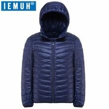 IEMUH 2017 Winter Plus Size 90% White Duck Down Coat Men Hooded Ultra Light Down Jacket Male Windproof Warm Parka 4XL 5XL 6XL