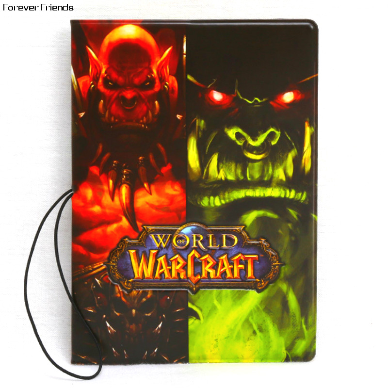 World of Warcraft pattern Passport Holders Ticket Protector card holder Bag Organizer ,wow passport cover for Travel