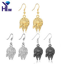 HEYu Hot Movies Star Wars Millennium Falcon 3D Dangle Drop Earrings Vintage Style Metal Alloy Spaceship Model Jewelry(China)