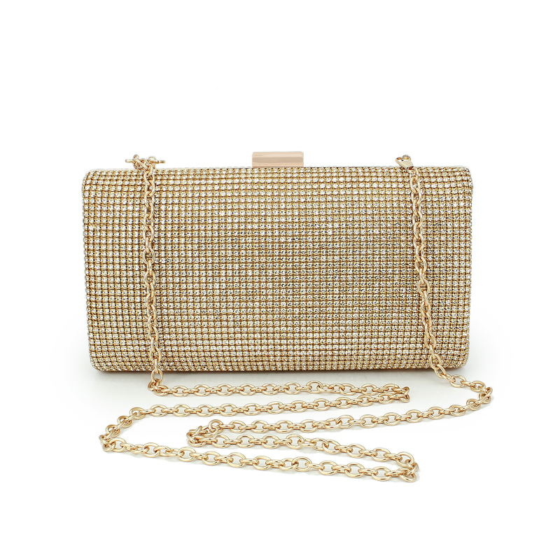 Luxury Crystal Evening Bags Full Diamond Evening Clutch Bag Finger Ring Bag Rhinestone Purses And Handbags Women Party Bag(C896) gradual change colours full of rhinestone refinement lady for party and wedding evening clutch bags womens designers purses